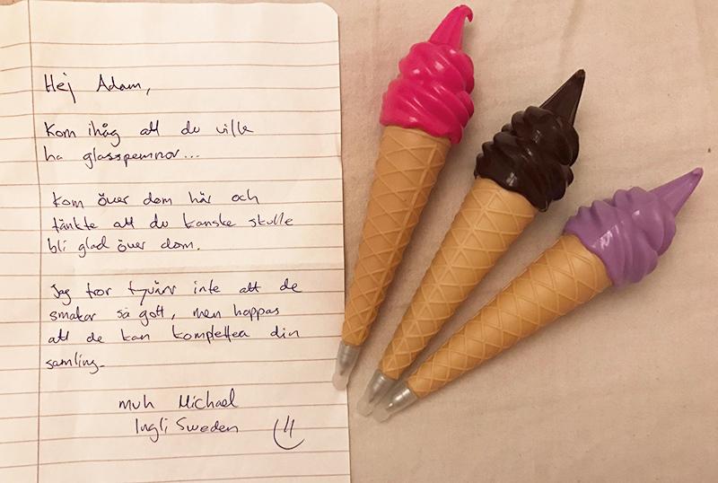 pennpojkens glasspennor från ingli