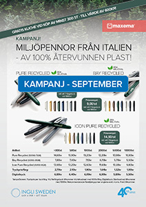 Kampanj September 2020 - Maxema Miljöpennor